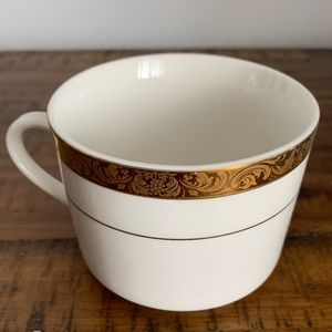 Flat Cup Smooth Empress Gold Fine China by Sango